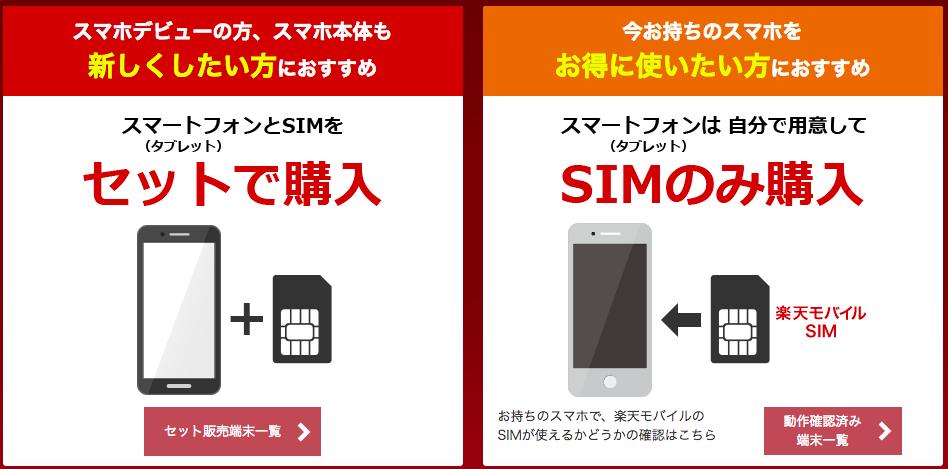 楽天モバイル スマホ・SIM