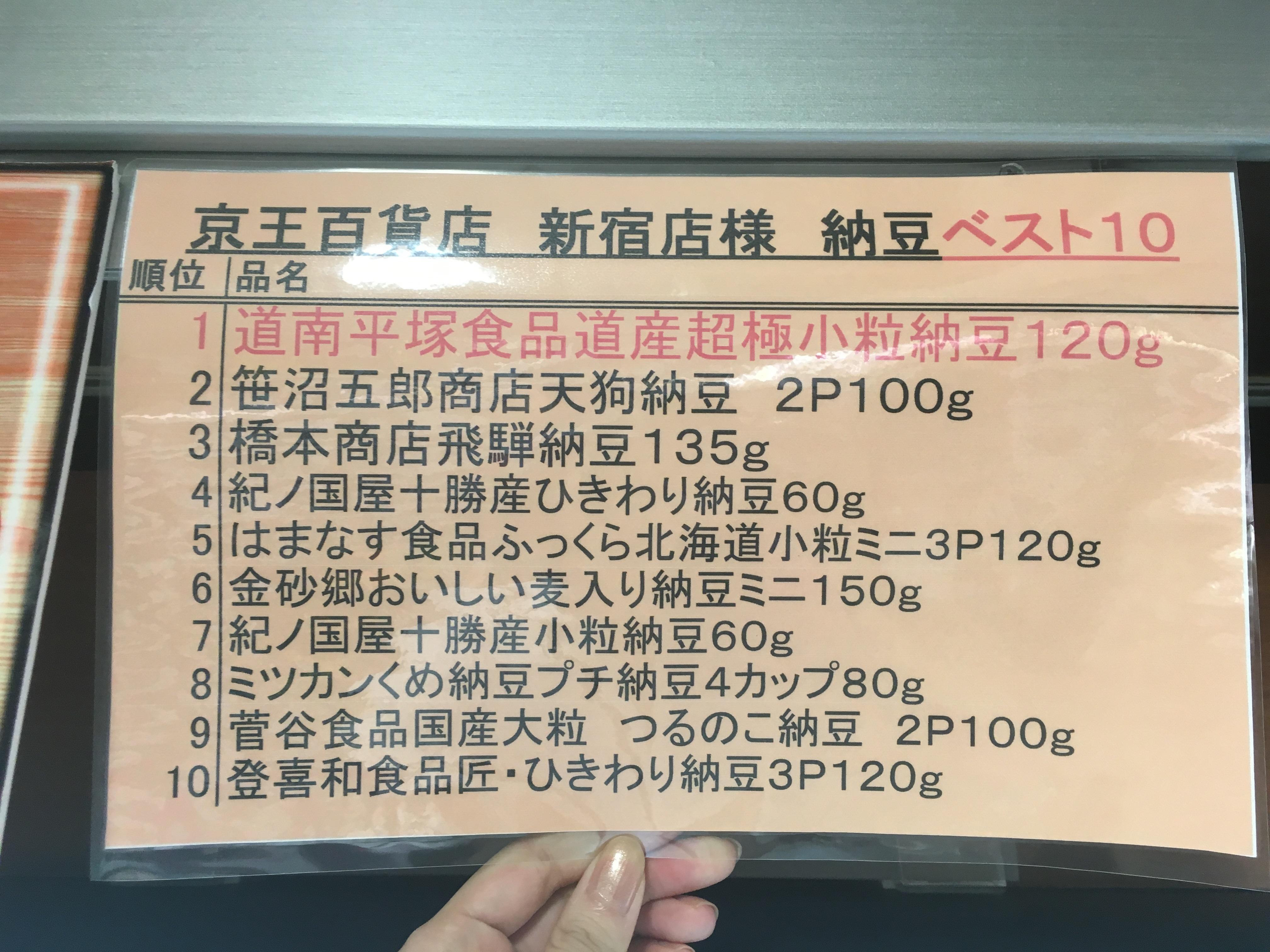 京王デパート納豆売り場