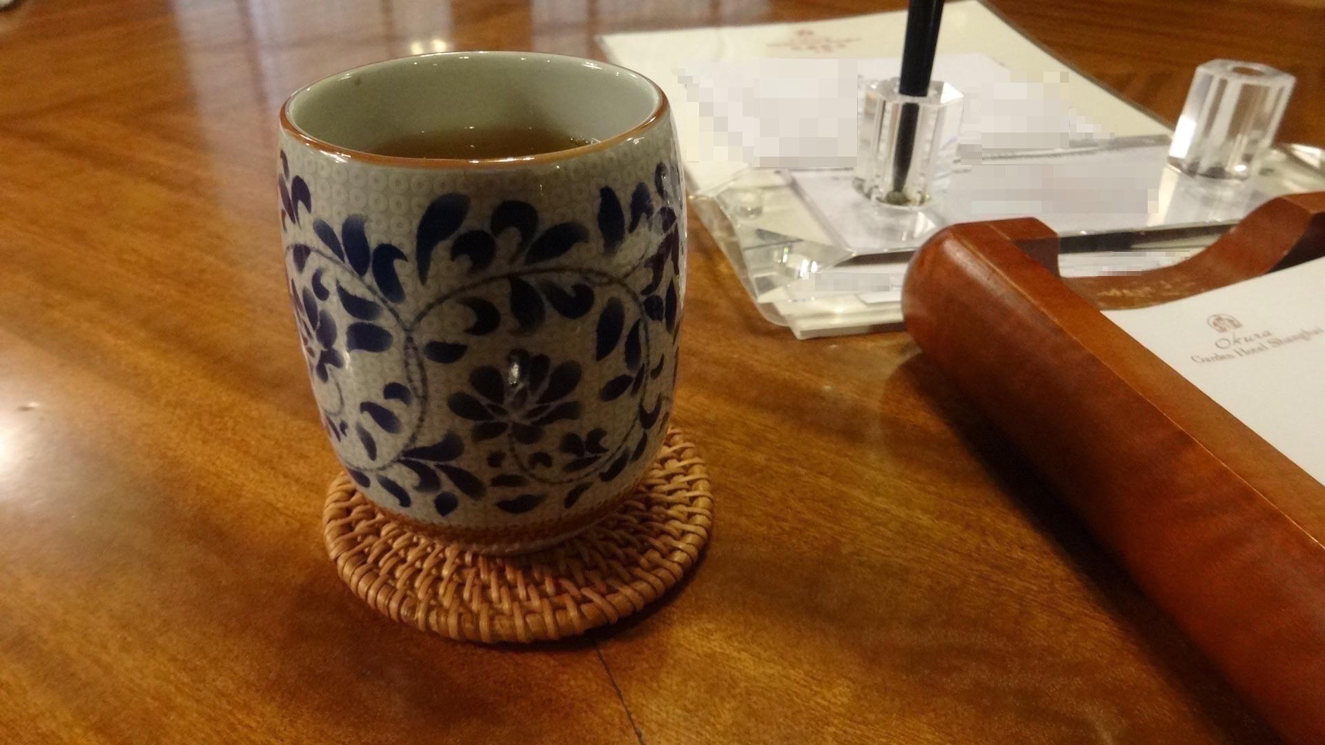 オークラガーデンホテルチェックインお茶