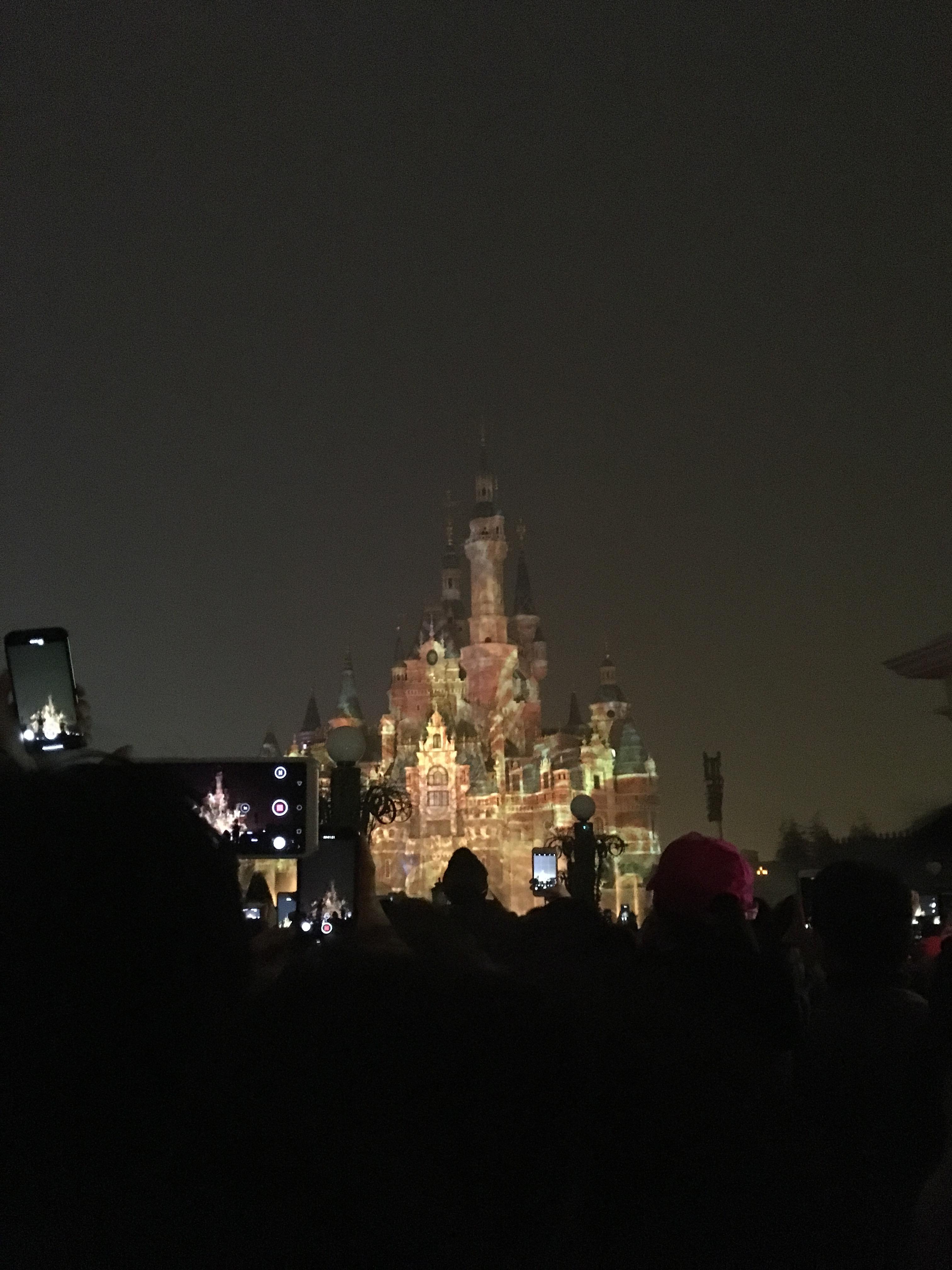 上海ディズニーランド花火