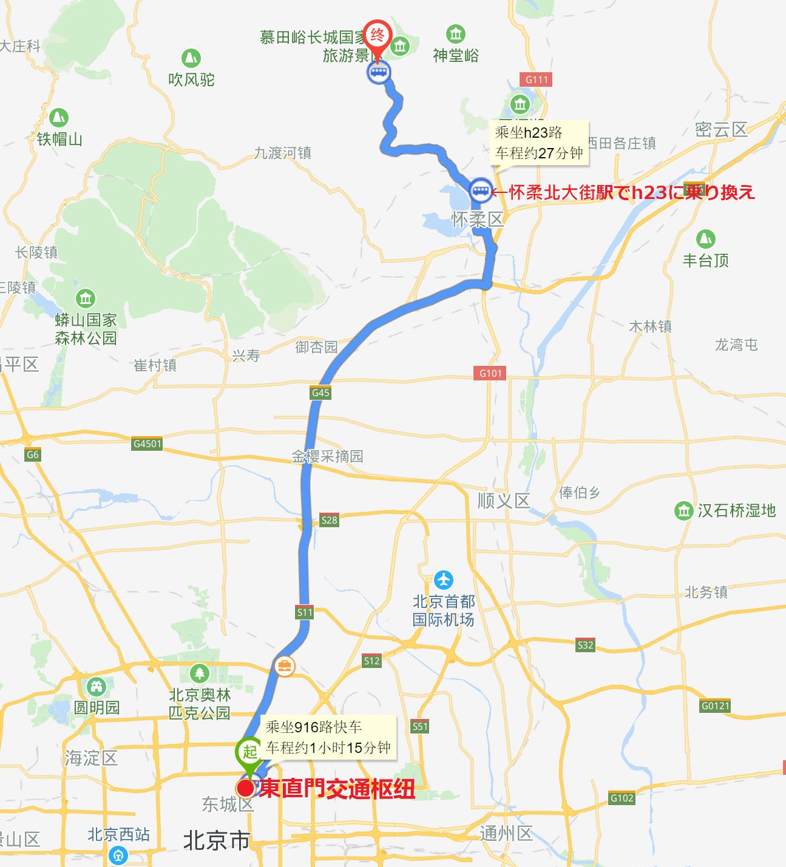 东直门-慕田峪长城
